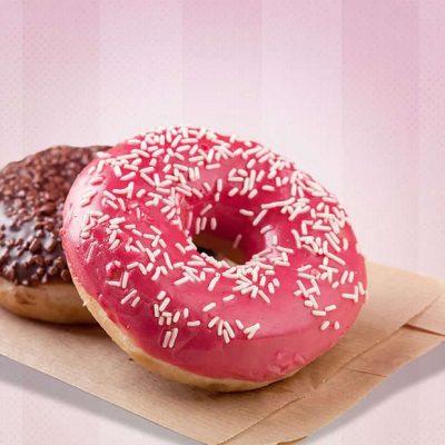 2 donuts met glazuur