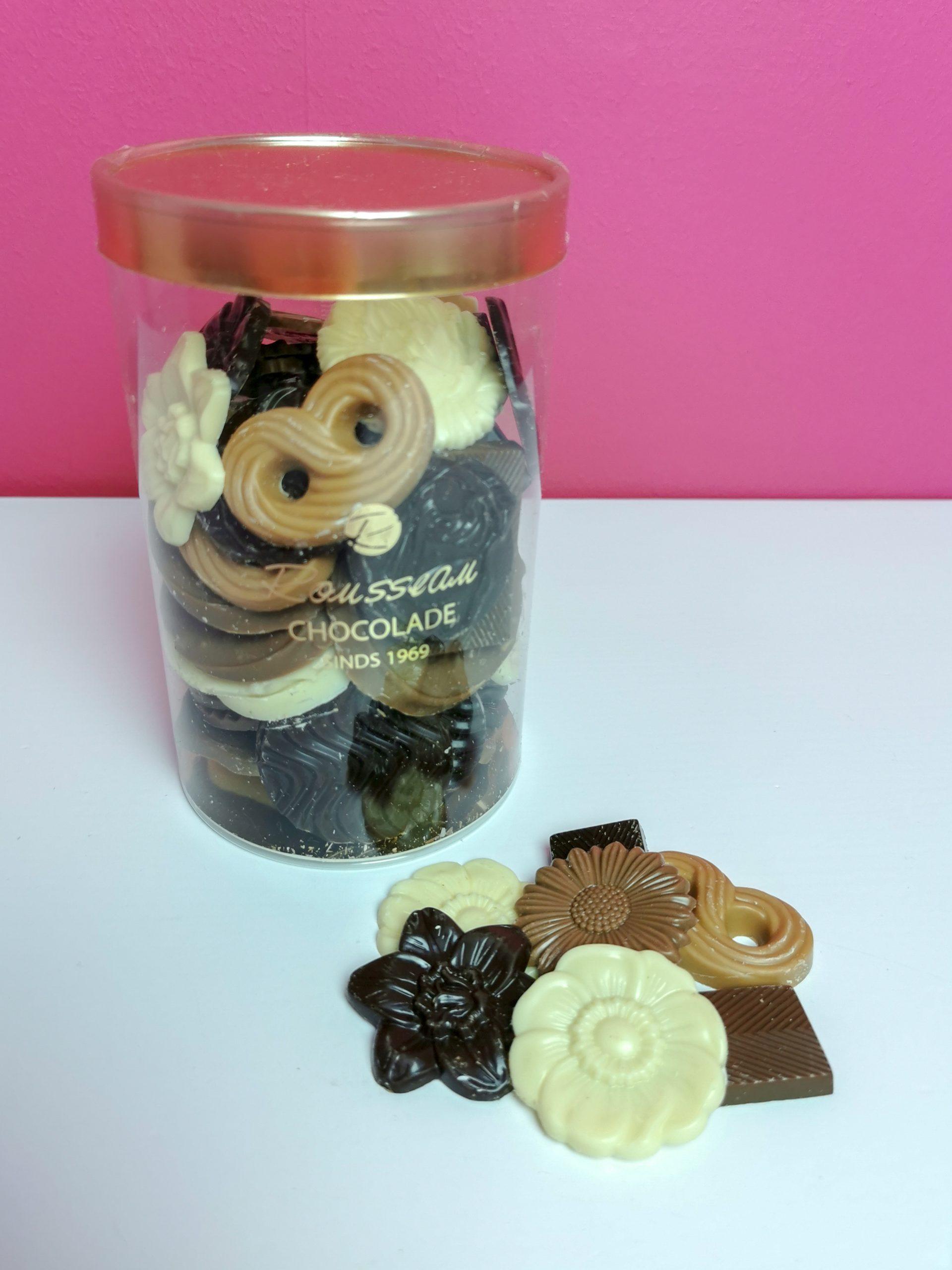 koker chocolaatjes van rousseau
