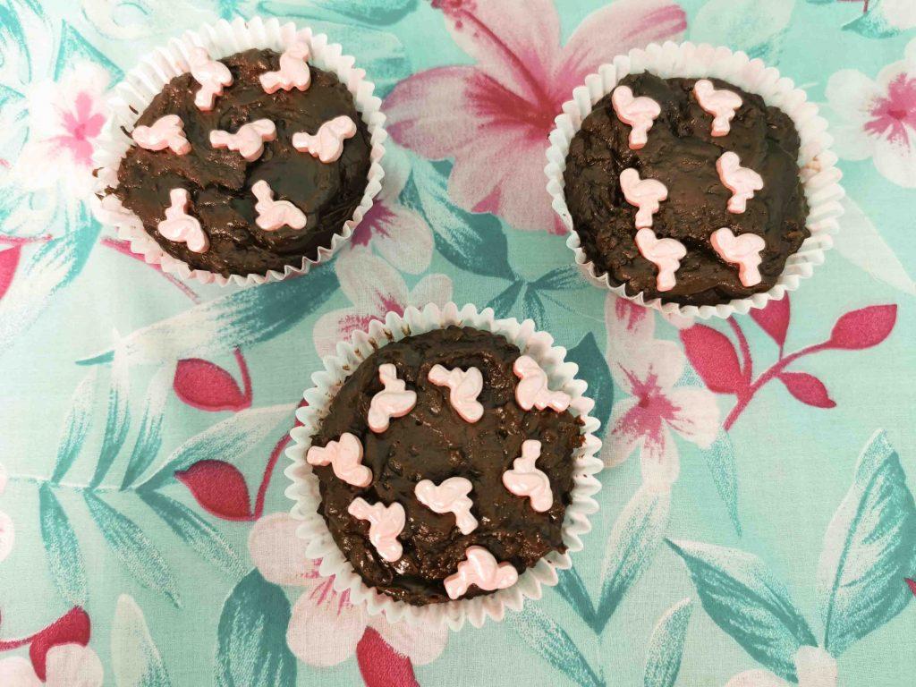 chocofudge in cupcakevormpjes