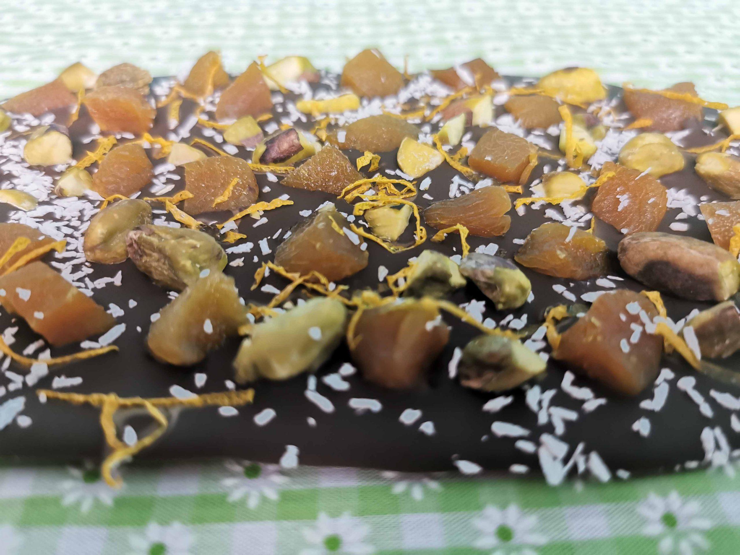 chocoreep met abrikozen en pistache
