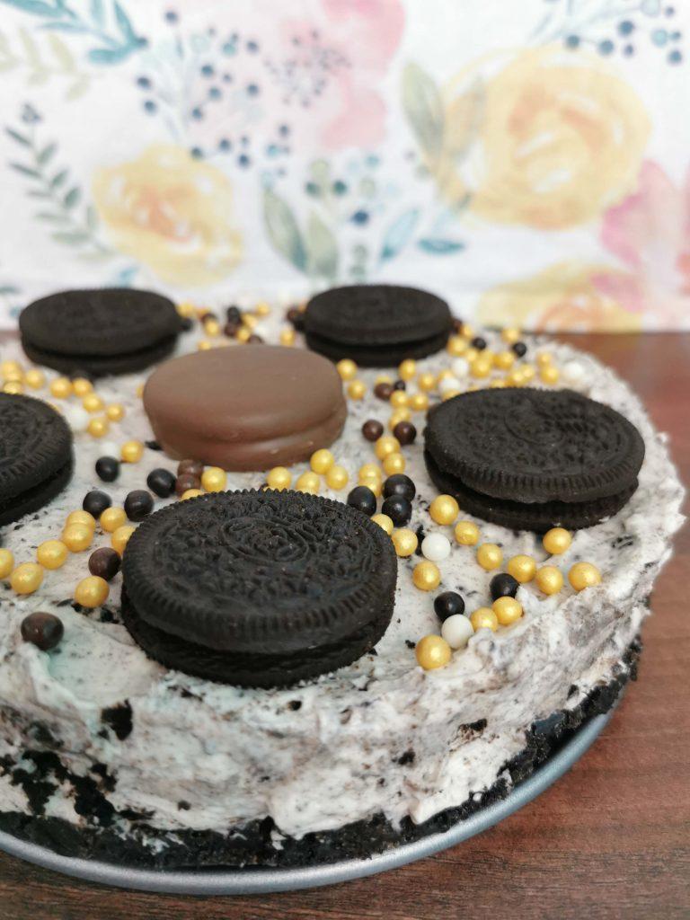 oreo cheesecake met heel veel oreo-koekjes