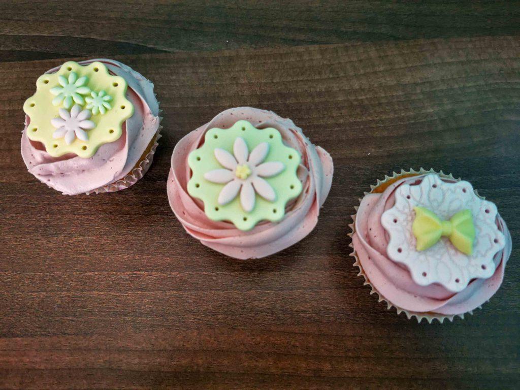 3 frambozencupcakes